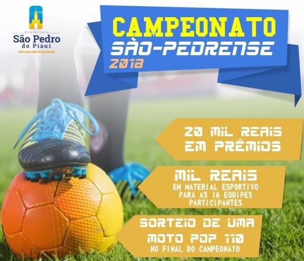 Prefeito Junior Bill anuncia premiação de mais de 20 mil reais para campeonato municipal em São Pedro do Piauí