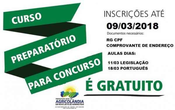 Prefeitura de Agricolândia oferece curso preparatório gratuito para o concurso