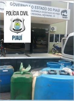 Polícia Civil de Piripiri localiza venda clandestina de combustível e gás em Brasileira