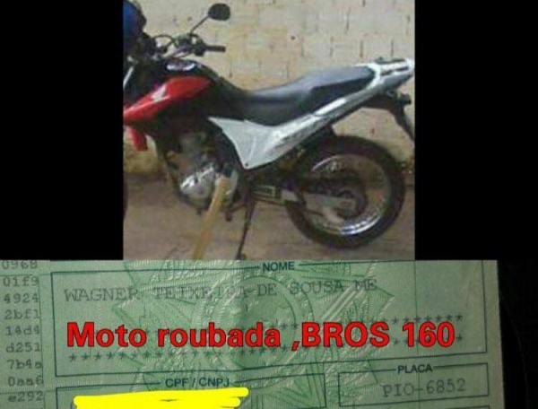 Moto de vereador é tomada de assalto em São Pedro do Piauí