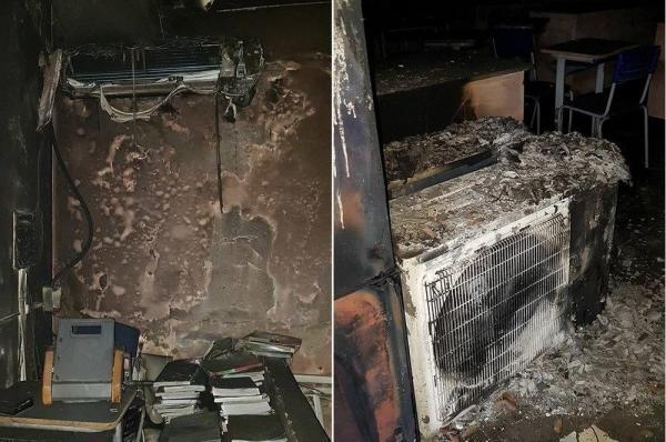 Lagoa do Piauí | Criminosos incendeiam sala de escola após não conseguirem furtar ar condicionado