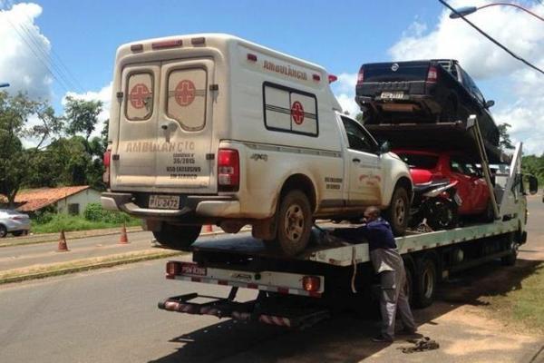 Ambulância de cidade piauiense é apreendida pela Polícia Rodoviária Federal na BR-343