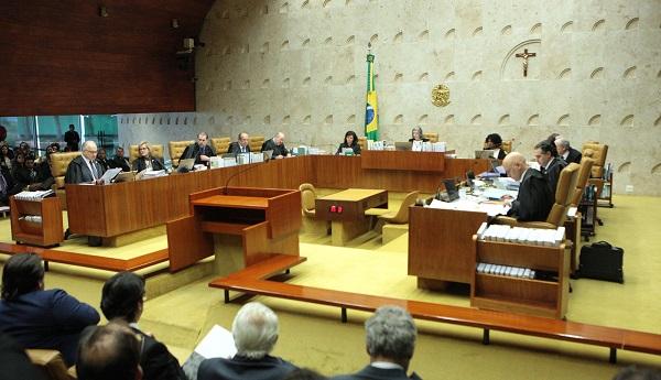 Ministros durante a sessão de julgamento do habeas corpus preventivo pedido pela defesa do ex-presidente Luiz Inácio Lula da Silva (Foto: Carlos Moura/SCO/STF)