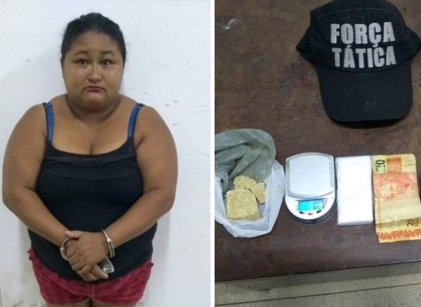 Mulher de 39 anos é presa suspeita de tráfico de drogas em Regeneração