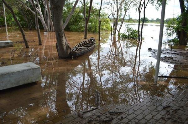 Rio Parnaíba avança e inunda áreas do Parque Encontro dos Rios, em Teresina