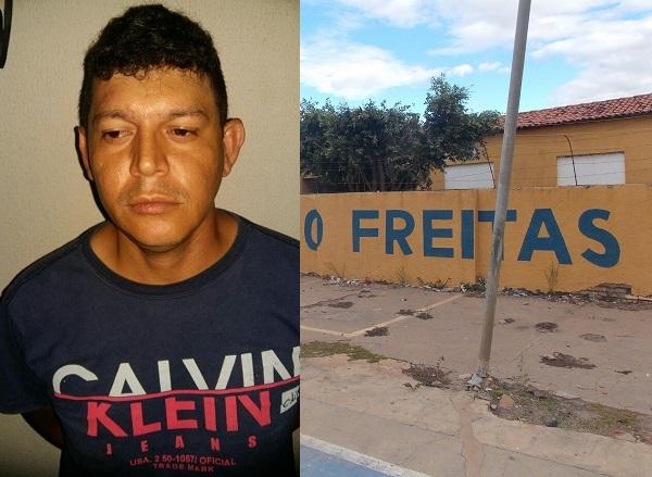 Suspeito de ser o mentor do arrastão feito à escola Antônio Freitas em Hugo Napoleão é preso em Água Branca