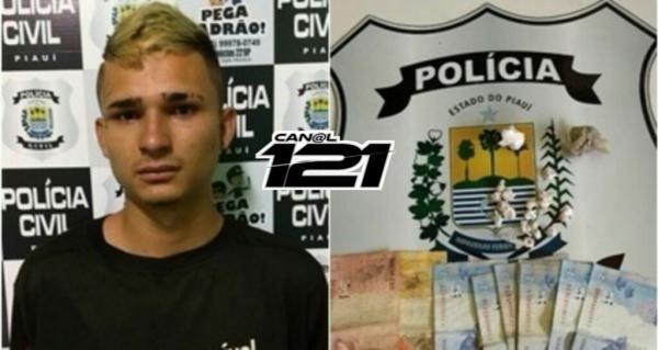 Usando camisa de combate às drogas, jovem é preso com entorpecentes em Teresina