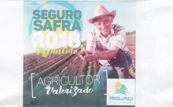 Prefeitura Municipal de Prata do Piauí adere ao Seguro Safra 2017/2018