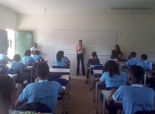 Visita às escolas (Imagem: Divulgação)
