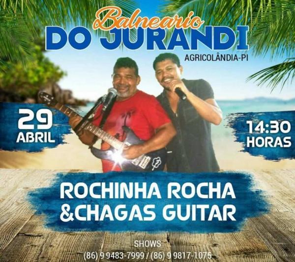 Balneário o Jurandi apresenta Grande Show dia 29 de abril com os Rochinhas
