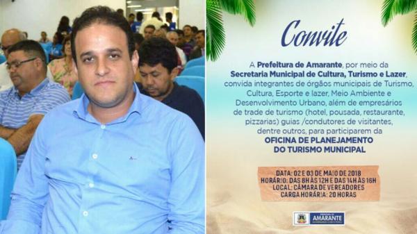 Prefeito Diego Teixeira vai realizar Oficina de Planejamento do Turismo Municipal