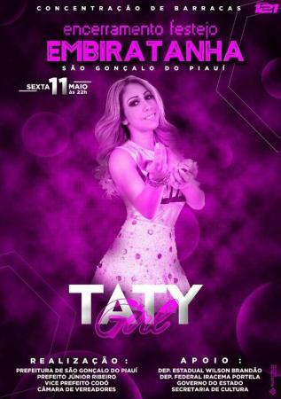 Grande show com Taty Girl no encerramento do festejo da comunidade Embiratanha, município de São Gonçalo