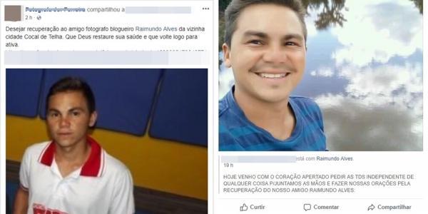 Blogueiro de cidade do Piauí sofre acidente, fica em estado grave e amigos se solidarizam na internet