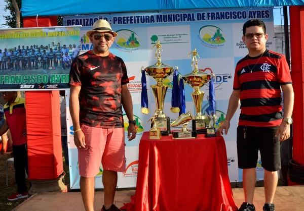 Presidente da Ampar, Adalberto Filho, prestigia final do campeonato municipal de Francisco Ayres
