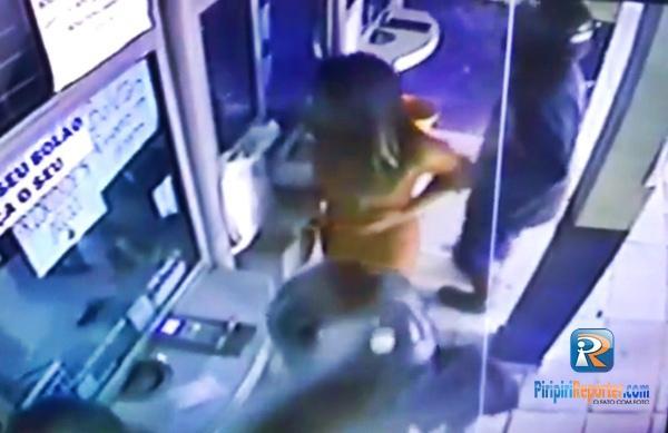 Dupla realiza assalto dentro de lotérica em Capitão de Campos