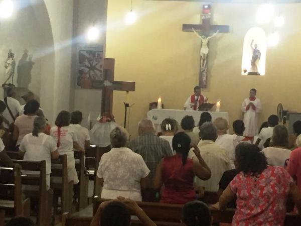 Imagem Peregrina de Santa Cruz dos Milagres é recebida em Barro Duro