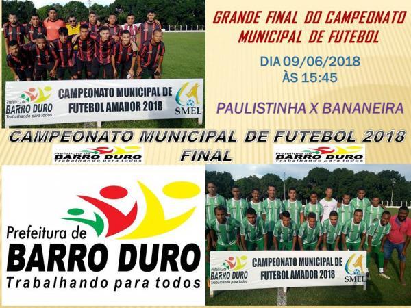 Definido os Finalistas do Campeonato de Futebol em Barro Duro