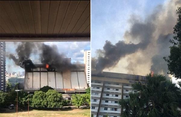 Incêndio atinge andar do Blue Tree Rio Poty Hotel em Teresina; imagens