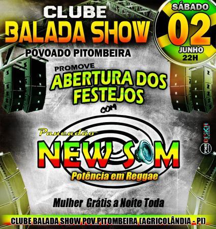 Contagem regressiva dia 02 de junho sábado pancadão New Som no Clube Balada show em Pitombeira