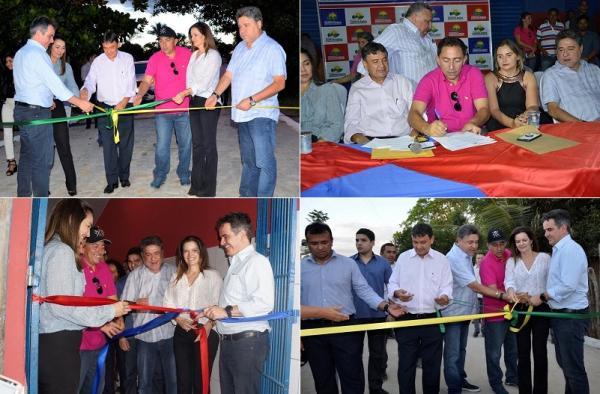Prefeito Walter Alencar inaugura diversas obras em Agricolândia com a presença de W. Dias, Ciro Nogueira e outras autoridades
