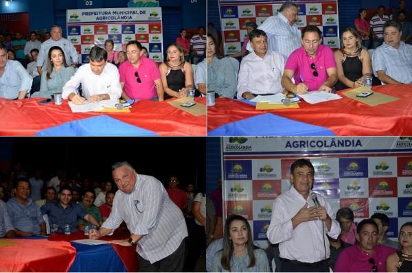 W. Dias autoriza construção em pavimentação asfáltica da rodovia que liga Agricolândia a Lagoinha