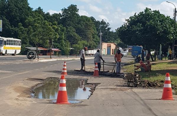 Prefeitura compra 30 toneladas de asfalto para operação tapa-buracos em Piripiri