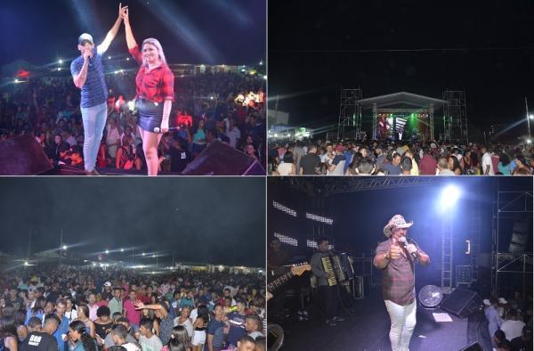 Multidão lota praça do mercado e marca show durante festejo em Prata do Piauí; veja imagens