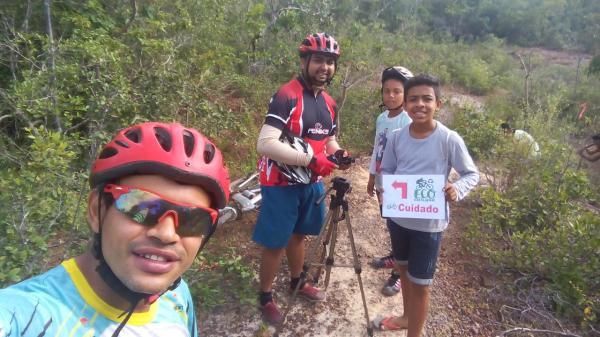 Equipe sinaliza 20 Km de trilha para o Eco Ciclismo 2018 em Curralinhos