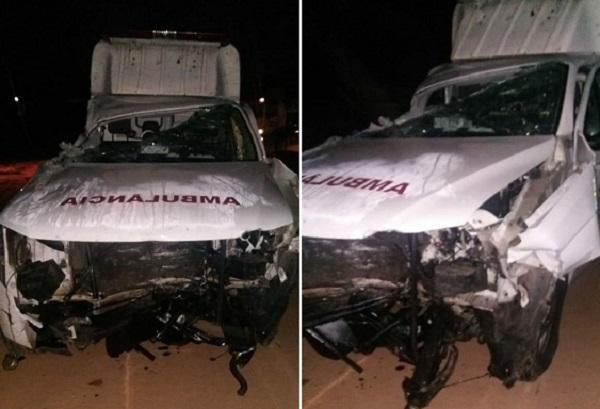 Acidente envolvendo ambulância deixa dois mortos na BR-316 no município de Monsenhor Gil