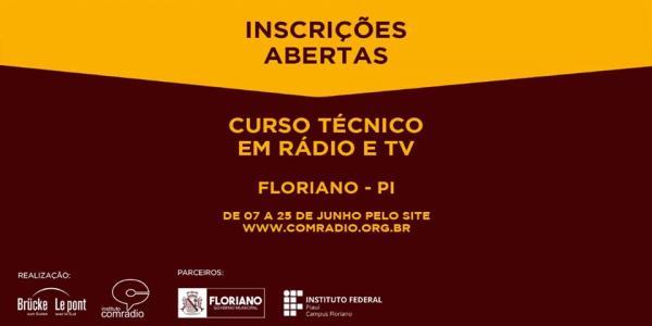Curso Técnico em Rádio e Tv em Floriano permanece com inscrições abertas