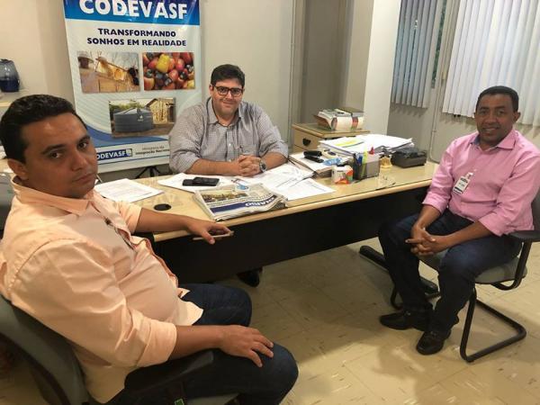 Prefeito Joel se reune com superintendente da Codevasf para solicitação de obras e projetos