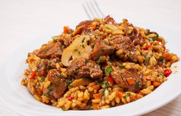 Receita de arroz chinês com frango e mel
