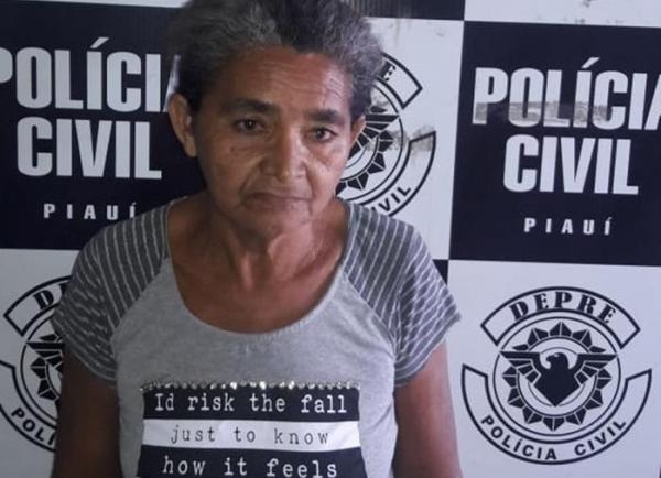 Idosa de 62 anos condenada por tráfico de drogas é presa em Teresina