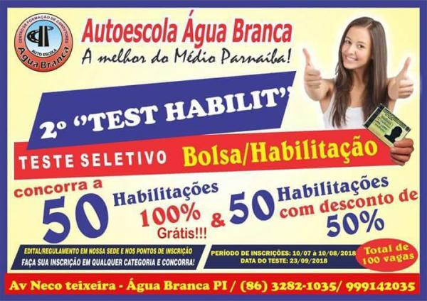 Autoescola Água Branca Habilitação 100% Gratuita!!!