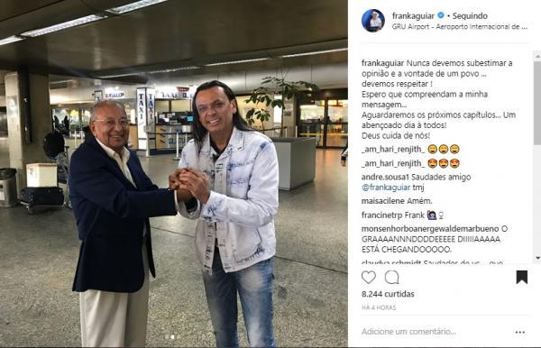Frank Aguiar publica indireta após encontro com Dr. Pessoa em SP