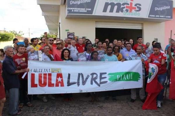 Caravana Lula Livre irá percorrer mais 13 municípios piauienses