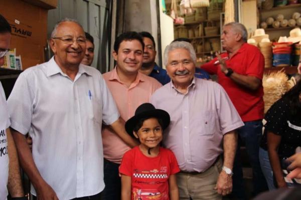 Dr. Pessoa e Elmano Férrer cumprem agenda juntos na capital e no interior