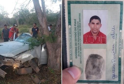 Pai de suplente de vereadora morre em grave acidente na rodovia da morte no sul do Piauí