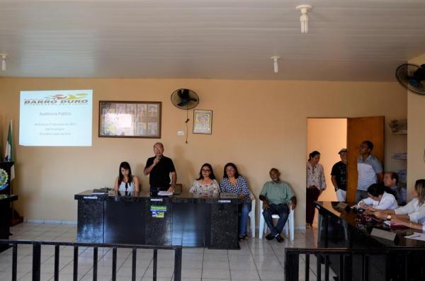 Prefeitura de Barro Duro realiza segunda Audiência Pública para prestação de contas
