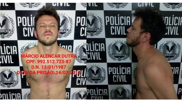 Márcio Alencar Dutra tem mandado de prisão em aberto em vários estados do Brasil (Imagem: Divulga PC-PI)