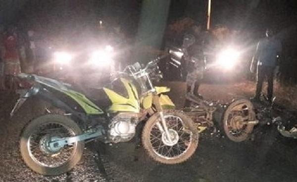 Colisão frontal entre motocicletas deixa dois mortos entre Valença e Lagoa do Sítio; criança de 5 anos vai para o HUT