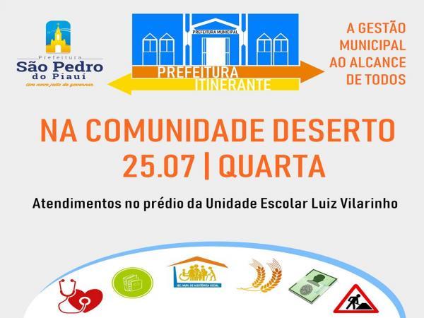 Prefeitura de São Pedro realizará projeto itinerante levando ações e serviços até a zona rural