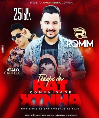 Grande show com Romim Mata no encerramento do festejo da comunidade Baixinha, município de São Gonçalo
