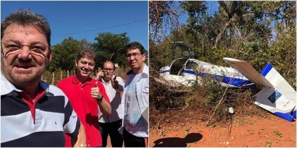 Avião com o ex-governador Wilson Martins e o deputado Rodrigo Martins faz pouso de emergência em Timon