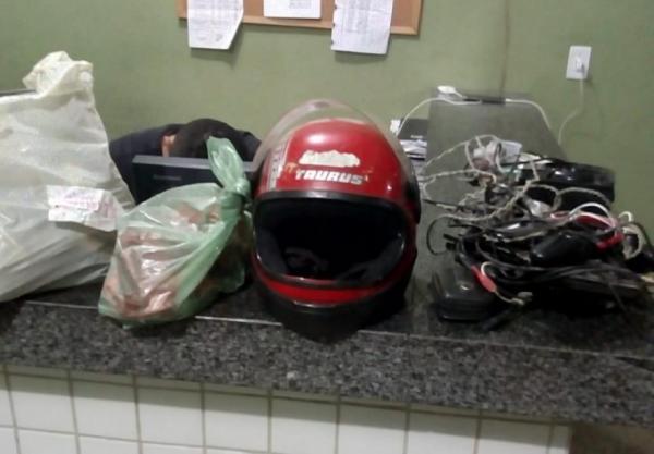 Homem é preso após arrombar e furtar residência no interior do Piauí