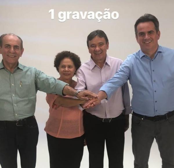 Wellington Dias e Ciro Nogueira gravam programa eleitoral