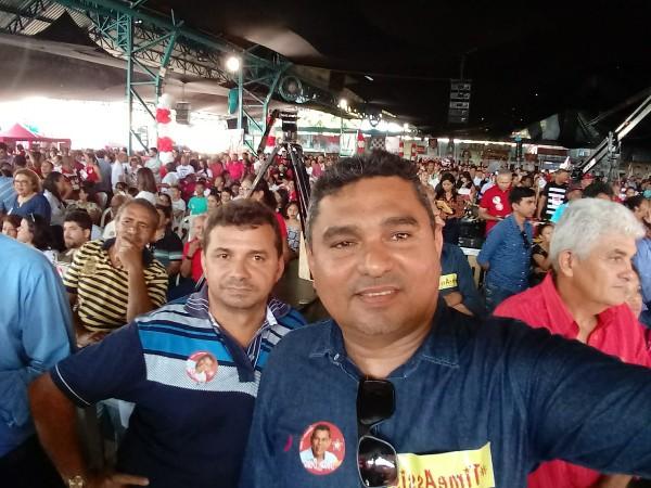 Prefeito Neguim Barbosa participa de convenção estadual do PT e partidos aliados