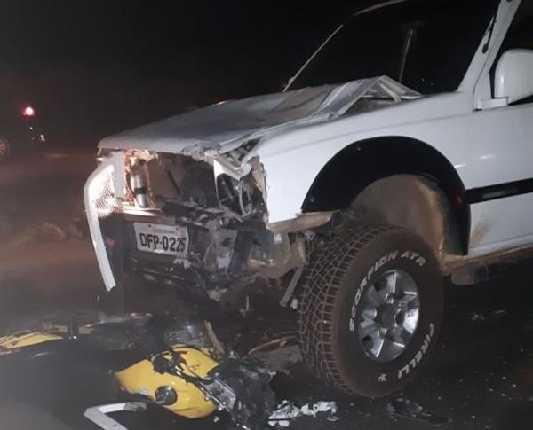 Motociclista morre ao colidir com L200 na BR 343 em Teresina