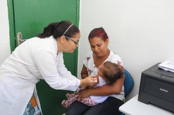 Saúde de Água Branca inicia vacinação contra sarampo e poliomielite