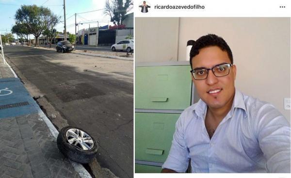 Teresina | Empresário e ex-candidato a vereador fica ferido após colidir carro em alta velocidade em poste